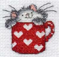Котята в кружке вышивка схема