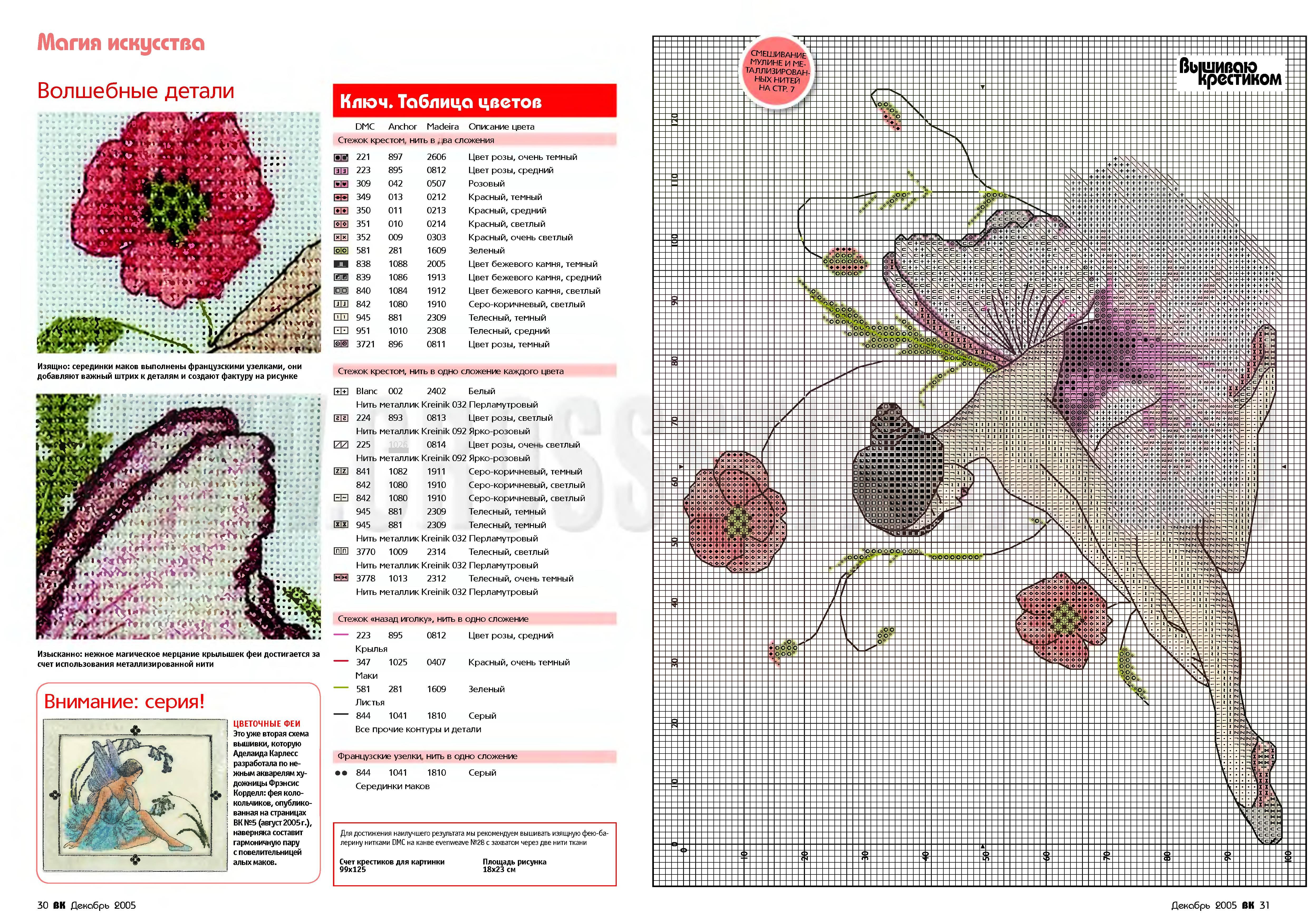 Цветы и Растения » Схемы вышивки крестом, крестиком 50